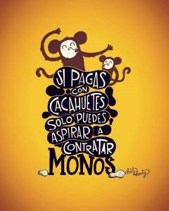 Cacahuetes y monos